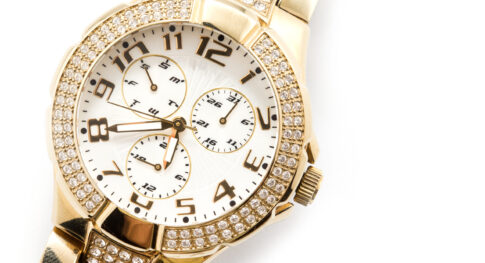 watch against white background